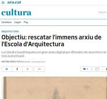 OBJECTIU: RESCATAR L'IMMENS ARXIU DE L'ESCOLA D'ARQUITECTURA